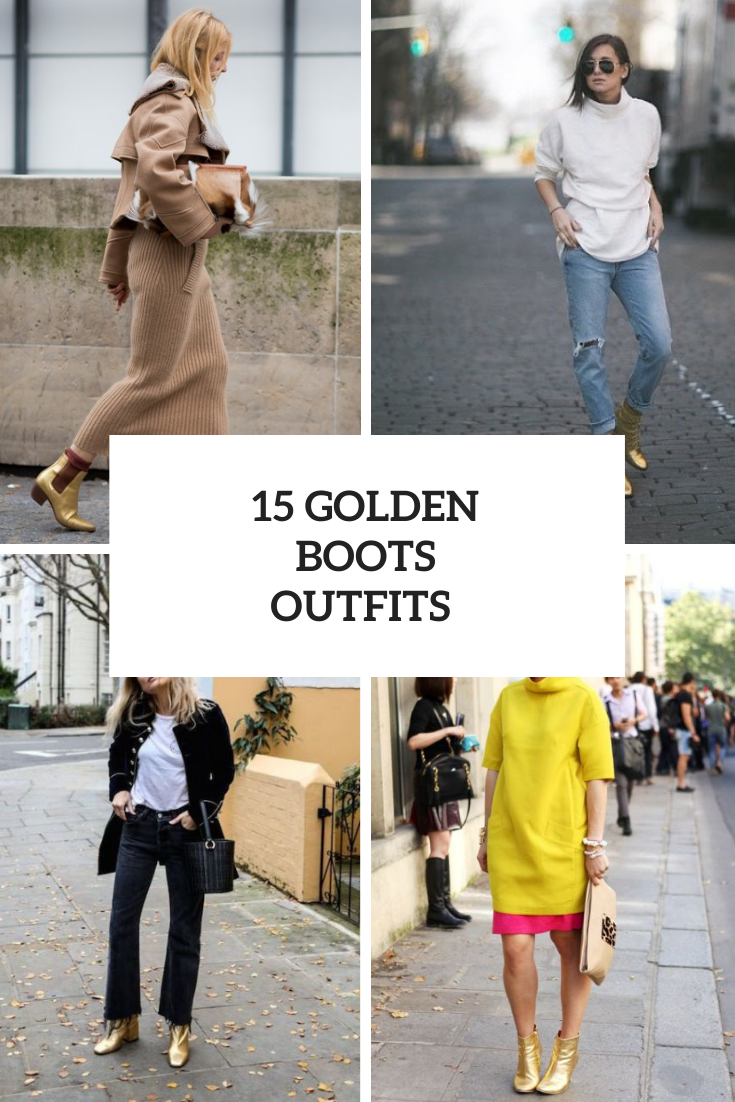 15 Winter Looks With Golden Boots