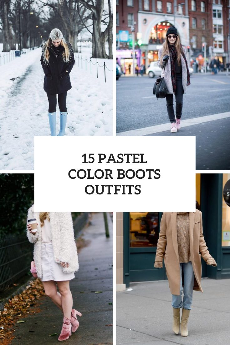 15 Women Looks With Pastel Color Boots