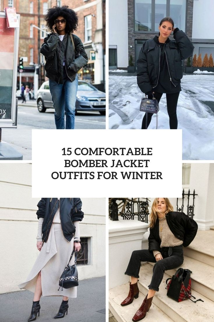 15 comfortable bomber jacket outfits for winter cover