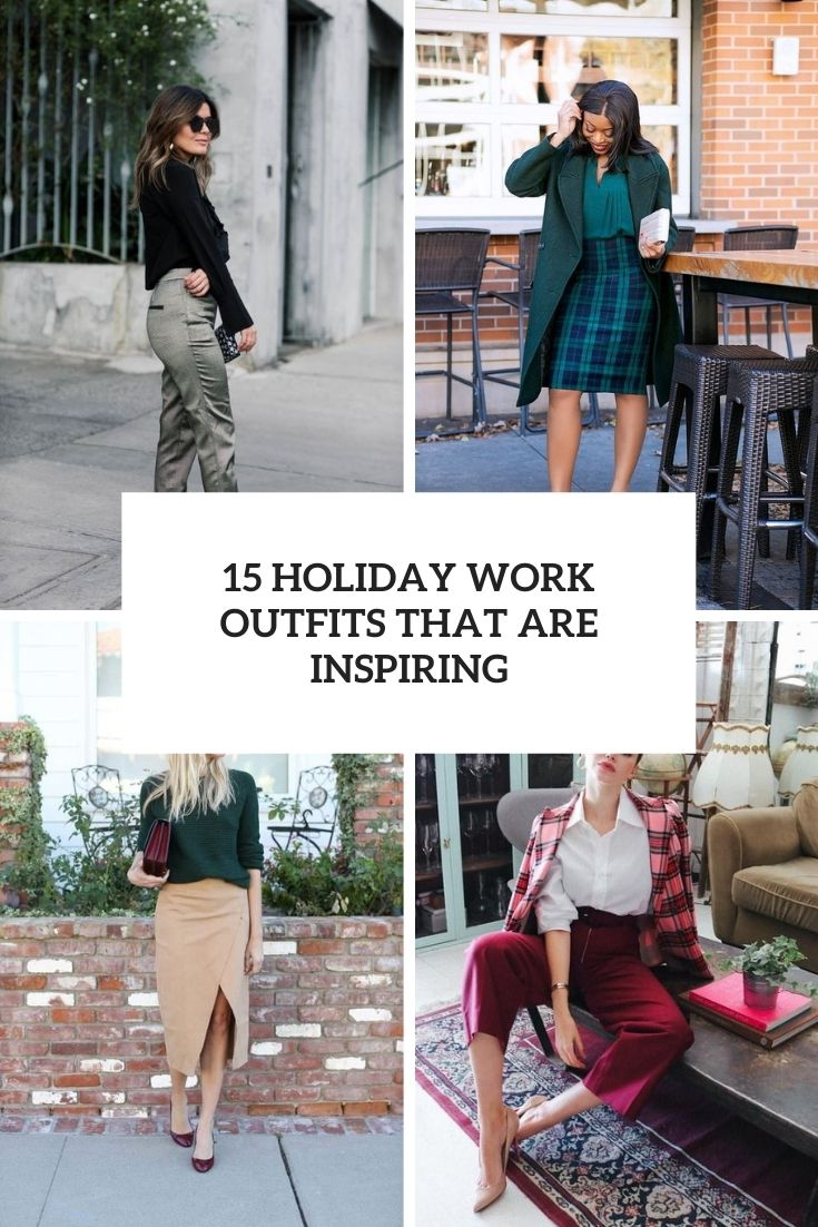 15 Holiday Work Outfits That Are Inspiring