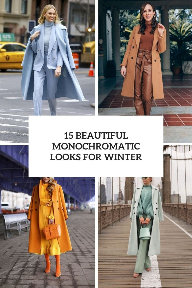 beautiful monochromatic outfits for winter cover