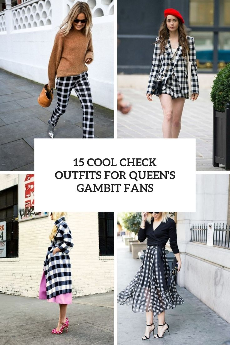 15 Cool Check Outfits For Queen's Gambit Fans