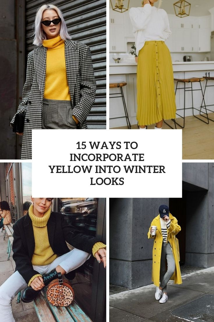 15 Ways To Incorporate Yellow Into Winter Looks