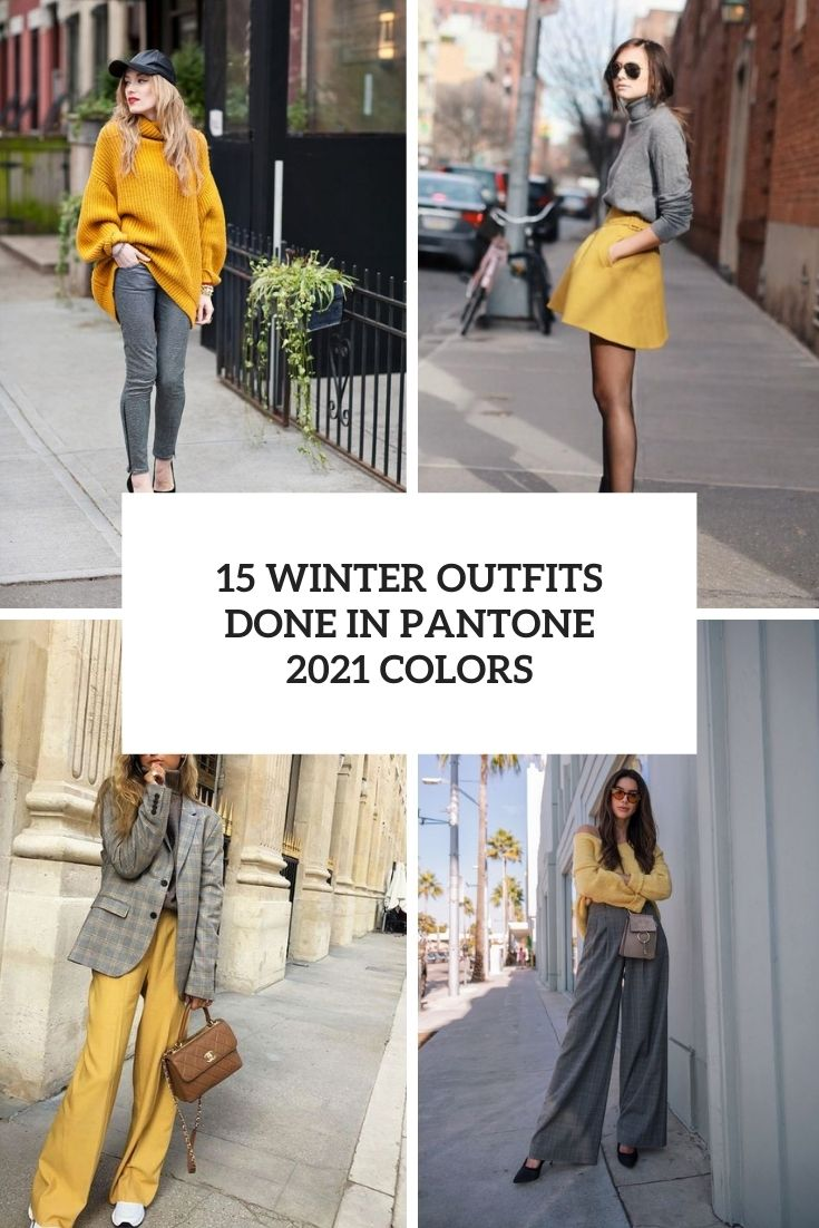 winter outfits done in pantone 2021 colors cover