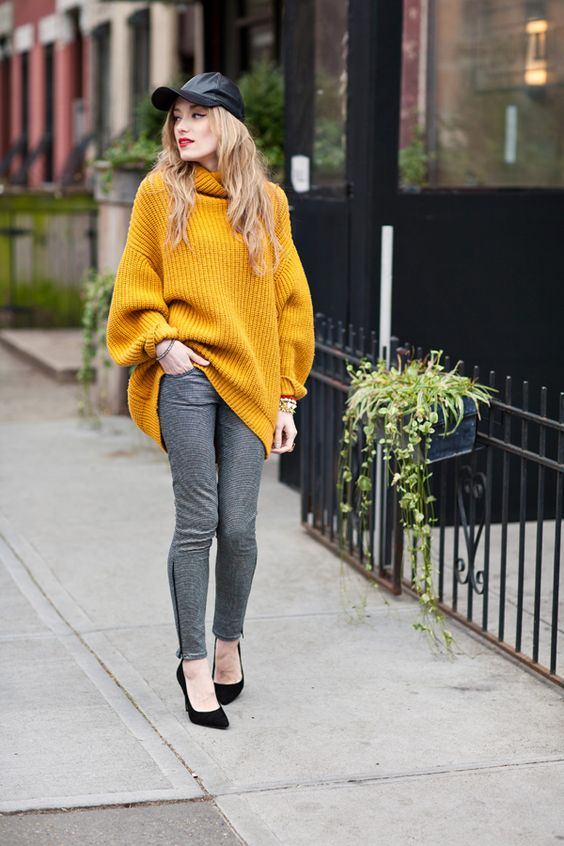 a cozy sweater look for winter