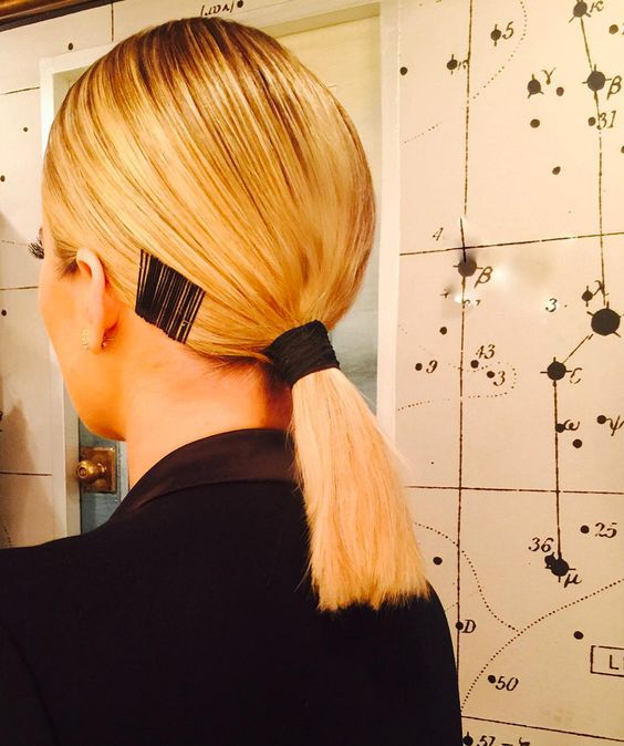 a low and sleek ponytail will match all hair lengths easily, so feel free to rock it anytime