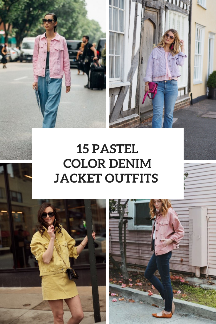 15 Looks With Pastel Color Denim Jackets