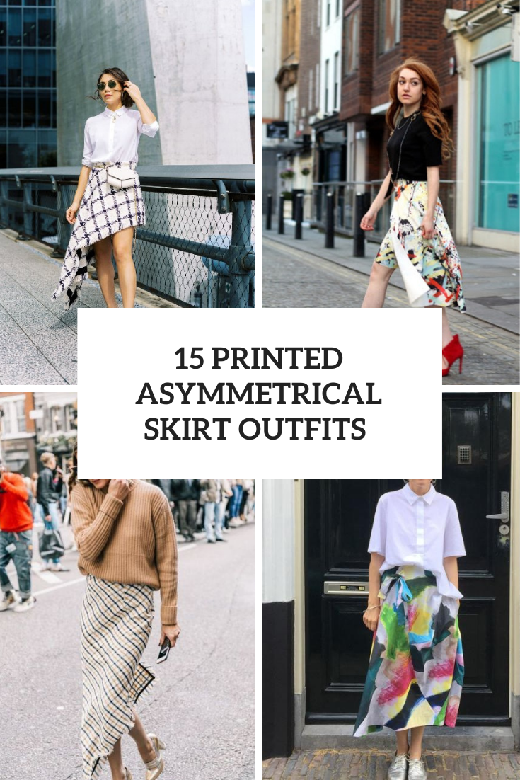 Outfits With Printed Asymmetrical Skirts