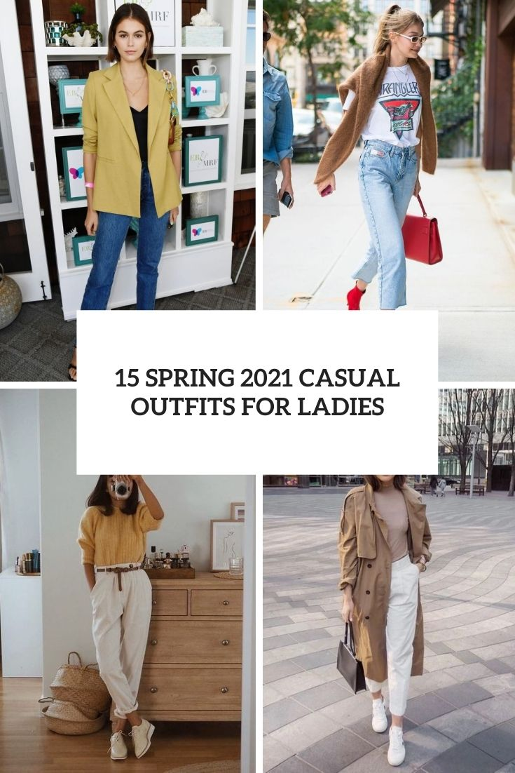 spring 2021 casual outfits for ladies cover