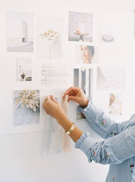 a mood board on the wall will also be a good idea - when the stylist comes to your home to check your wardrobe, he or she will take a look at that