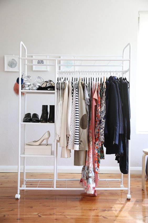 declutter your wardrobe removing things that you don't want to wear or those that are worn out, lost color, etc