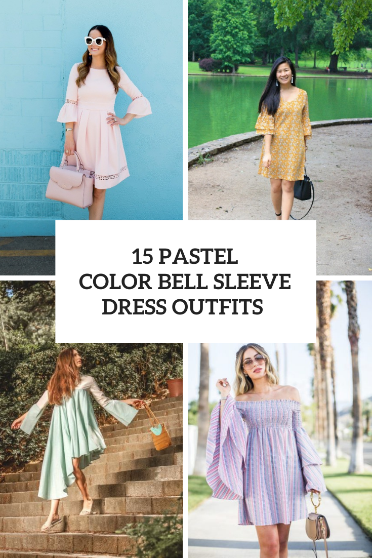 Amazing Outfits With Pastel Color Bell Sleeved Dresses