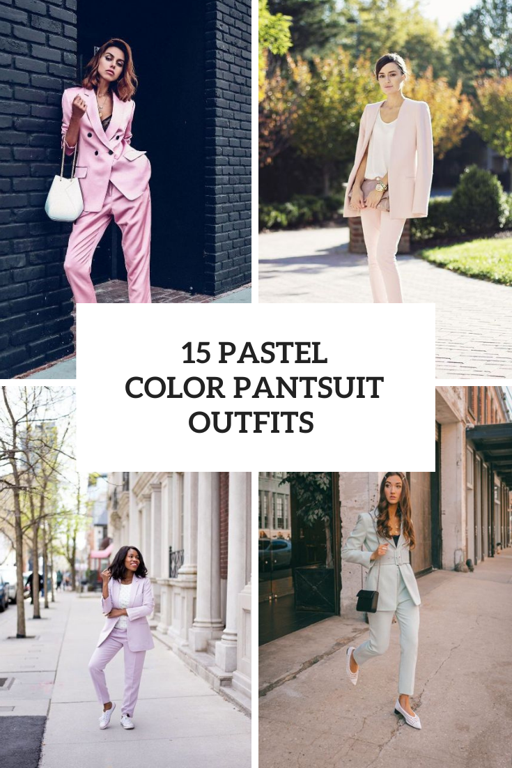 15 Looks With Pastel Color Pantsuits For Ladies
