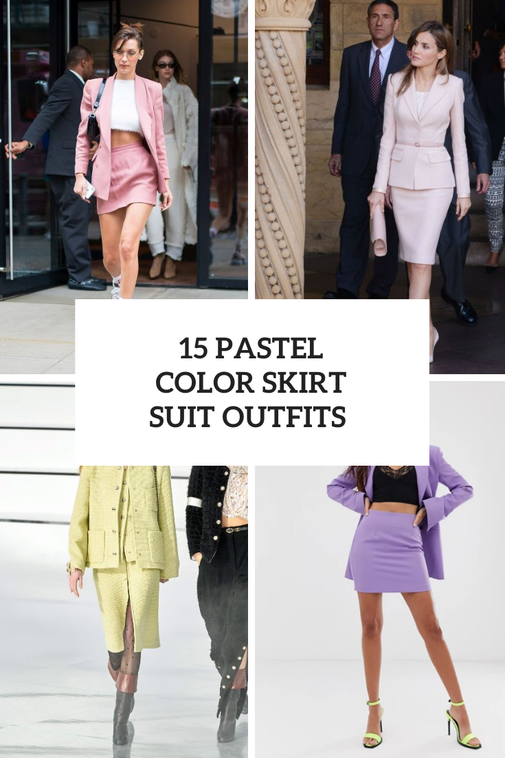 15 Looks With Pastel Color Suits With Skirts