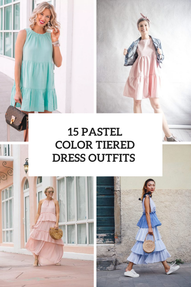15 Outfits With Pastel Color Tiered Dresses