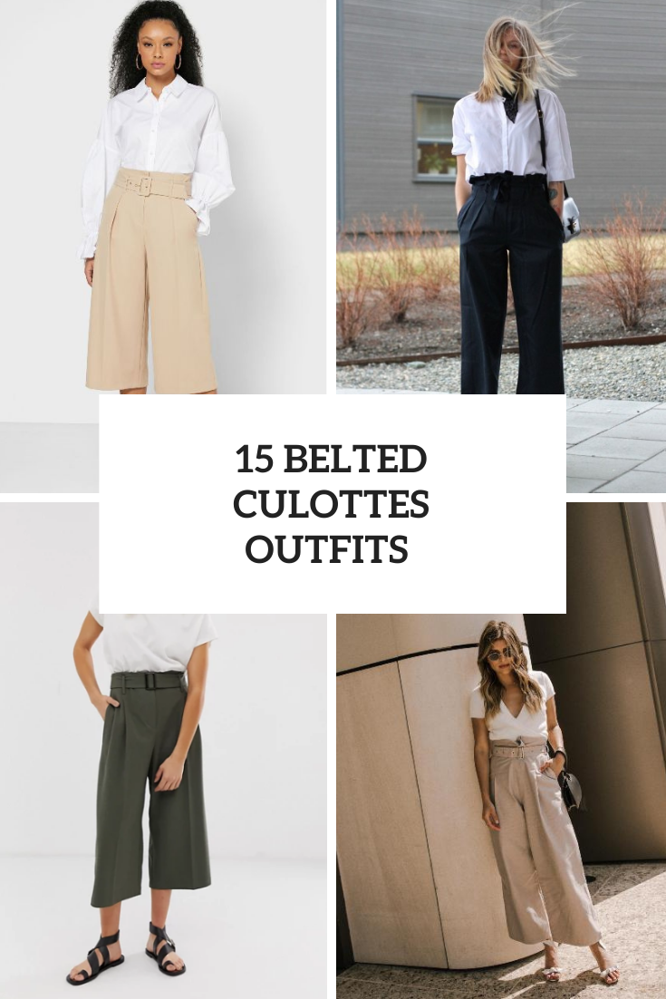 15 Stylish Looks With Belted Culottes