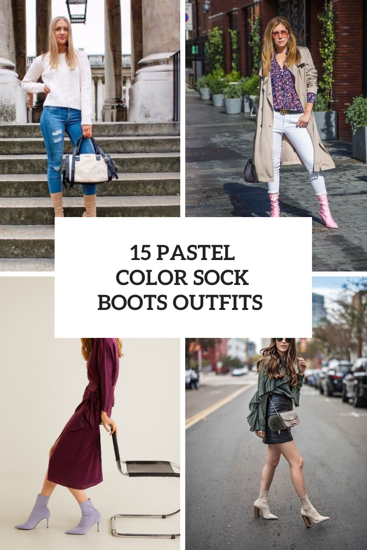 15 Wonderful Looks With Pastel Color Sock Boots