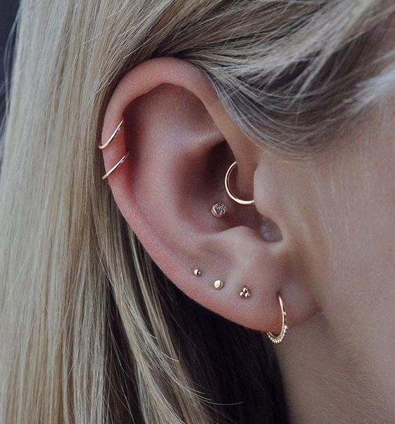 small gold and pink crystal studs like these ones are a good idea for a stylish everyday look