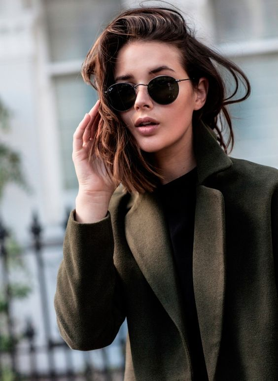 classic round sunglasses will fit any look and will always look perfect and cool
