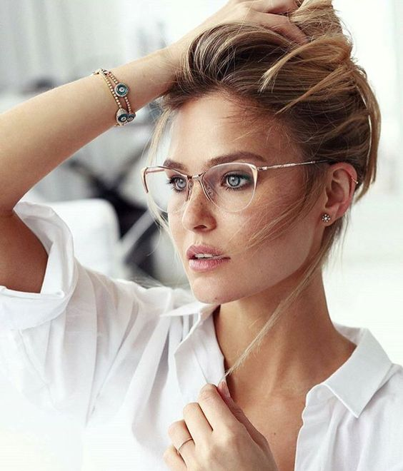 beautiful and lightweight nude half rimmed glasses like these ones are timeless