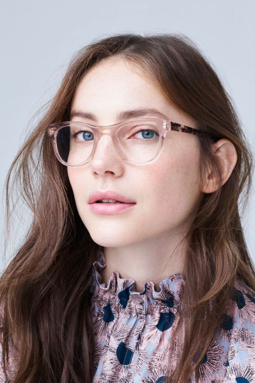 blush translucent glasses look lightweight and almost not seen, which is great for many looks