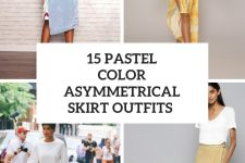 15 Outfits With Pastel Color Asymmetrical Skirts