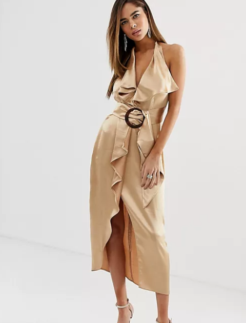 With beige ankle strap shoes