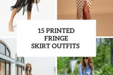 15 Cool Looks With Printed Fringe Skirts