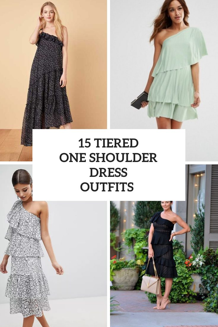 15 Outfits With Tiered One Shoulder Dresses