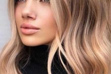 21 warm and light brunette hair with warm sunkissed and shiny hair, with light waves is a perfect idea to rock for summer