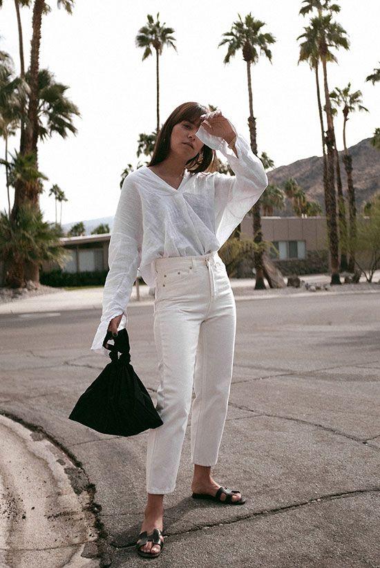 a cute summer look with a linen shirt