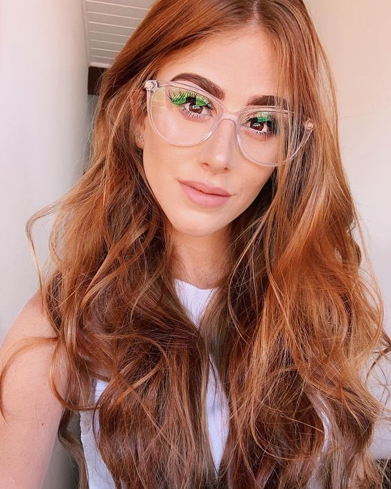 a clear cat eye frame is a fabulous idea as this shape is timeless and a clear frame is trendy and neutral enough