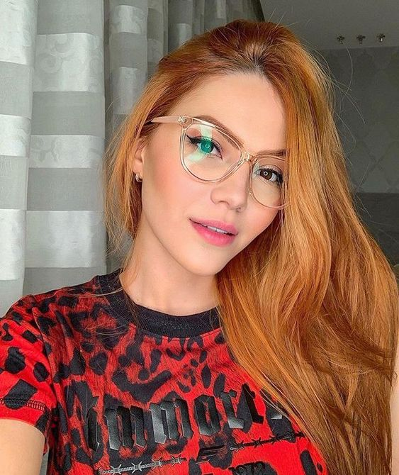 beautiful nude clear cat eye glasses are a timeless and trendy at the same time accessory to rock