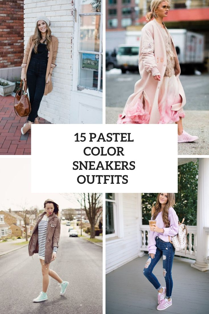 15 Awesome Outfits With Pastel Color Sneakers