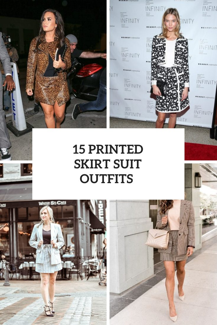 15 Outfits With Printed Suits With Skirts