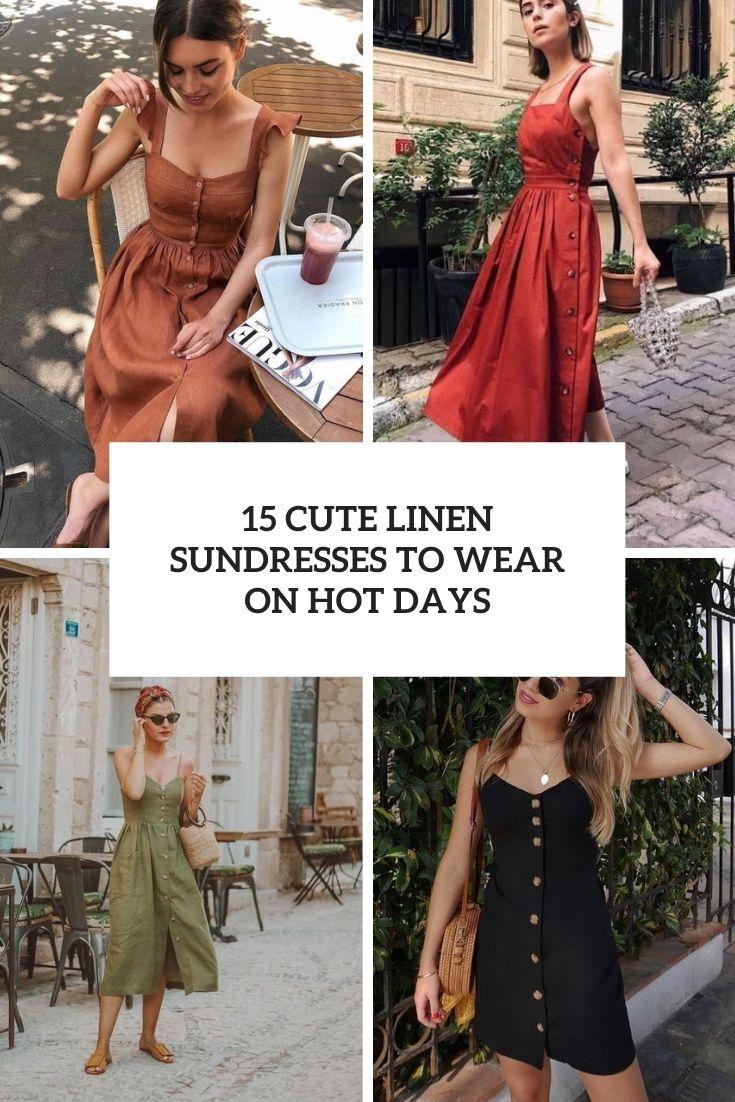 15 Cute Linen Sundresses To Wear On Hot Days