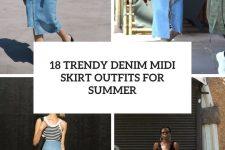 18 trendy denim midi skirt outfits for summer cover