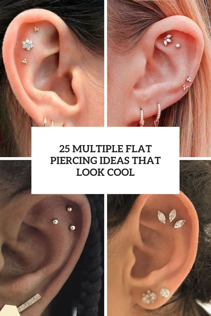 multiple flat piercing ideas that look cool cover