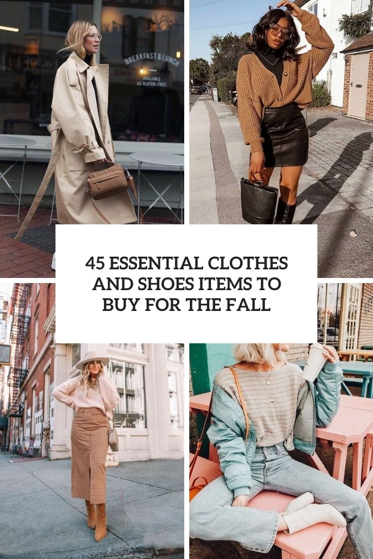 essential clothes and shoes items to buy for the fall cover