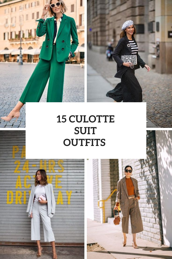 15 Amazing Looks With Culotte Suits