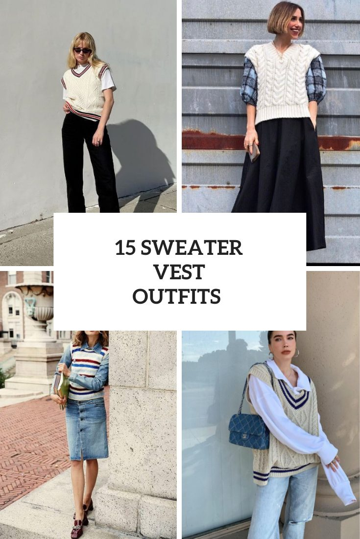 Awesome Looks With Sweater Vests For Ladies