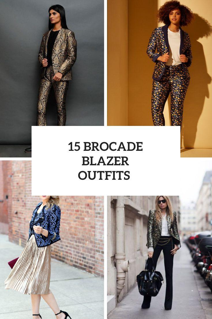 15 Fabulous Looks With Brocade Blazers