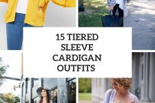 15 Outfits With Tiered Sleeve Cardigans