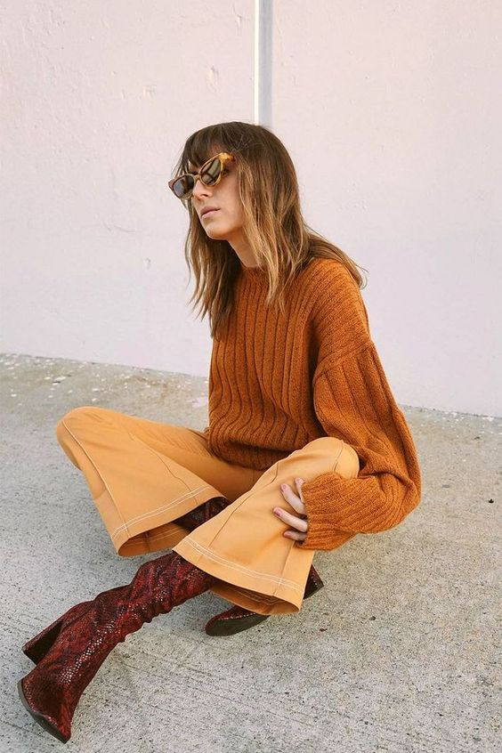 a trendy fall outfit with pants