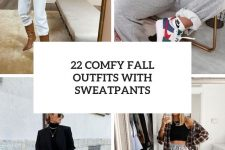 22 comfy fall outfits with sweatpants cover