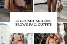 25 elegant and chic brown fall outfits cover