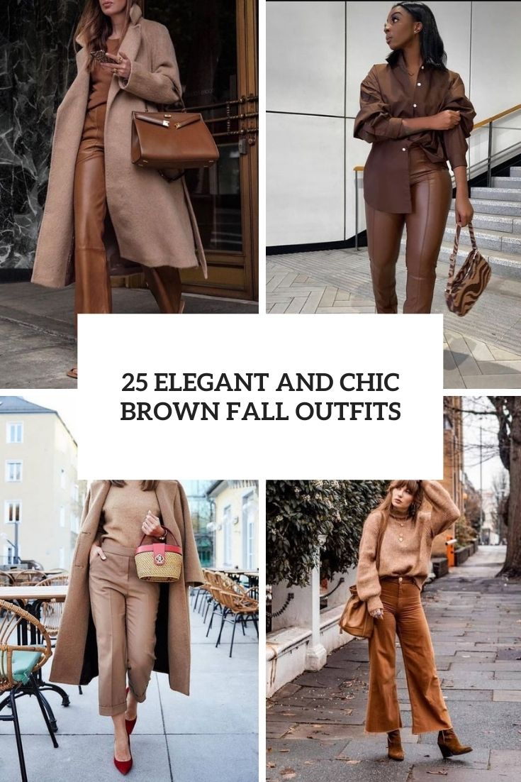 elegant and chic brown fall outfits cover
