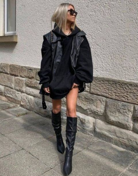 a gorgeous hoodie fall look