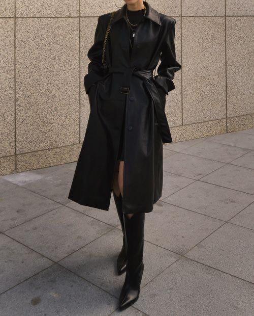 a stylish mini dress fall look