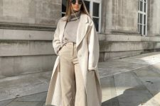 an all-neutral fall outfit